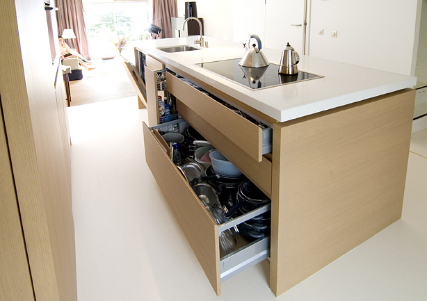 Keuken Wit Blad : keuken eiken fineer Weij MeubelwerkWeij Meubelwerk